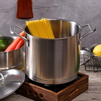 5L Kitchen Soup pot #304 stainless steel Stew pot Casserole thickening Composite 3 ply bottom Thick 20cm hotpot