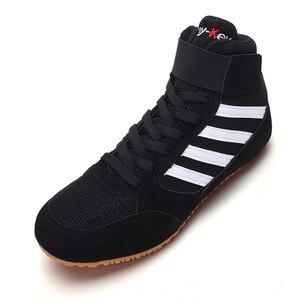 Zapatos de lucha transpirables para hombre y mujer, zapatillas de boxeo ligeras, color negro y rojo, talla de zapatillas 35-44, ligeros, 2020