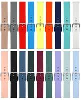 22mm 20mm Silikon strap für Samsung Galaxy uhr 3 46mm/Aktive 2 42mm/Huawei uhr GT GT2 Silber schnalle für Amazfit Bip band