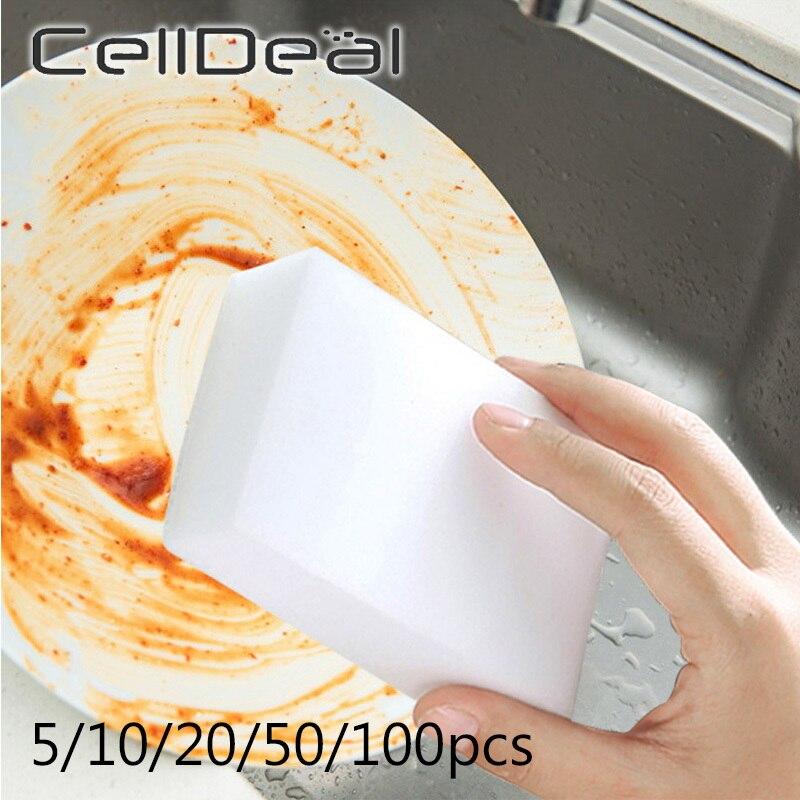 20/50/100pcs Magic Sponge Eraser Cleaner White Melamine Kitchen Bathroom Car Cleaning Tool Multifunctional Dish Cleaning Sponge Terrific Value
