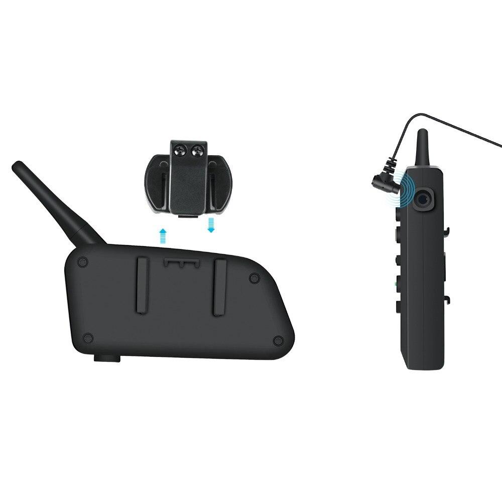 VNETPHONE 2 Set Motorrad Intercom Bluetooth Helm Intercom Motorrad Helm Lautsprecher Wireless Headset 1200m Sprech V6