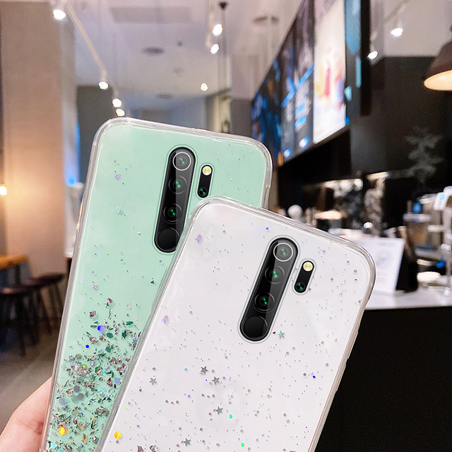 Ultra thin Bling Glitter Lanyard Silicone Phone Case For Xiaomi Redmi Note 9 8 7 Mi 10 9 T 8 Lite Pro Luxury Necklace Rope Cover|Phone Case & Covers|   -