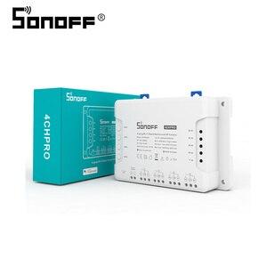 Image 3 - SONOFF 4CH Pro R3 433Mhz RF telecomando senza fili banda a 4 vie canale Wifi relè Inching interblocco Smart Switch domotica