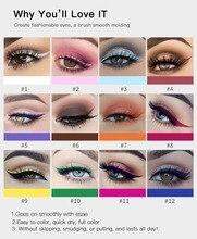 где купить Matte Color Liquid Eyeliner Solution Durable Liquid Eye Liner 12-Color  Waterproof Long Lasting Bright-Coloured Quick Dry Pen дешево