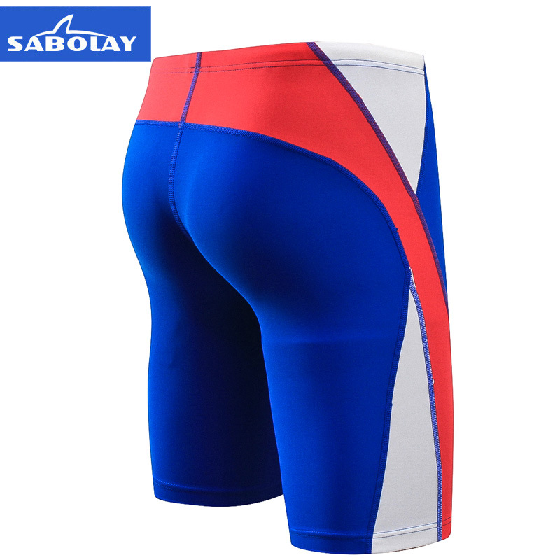 SABOLAY Men Quick-Dry Chlorine-Resistant Competition Swimming Trunks Men's Swimming Boxer Short Shorts Nk018