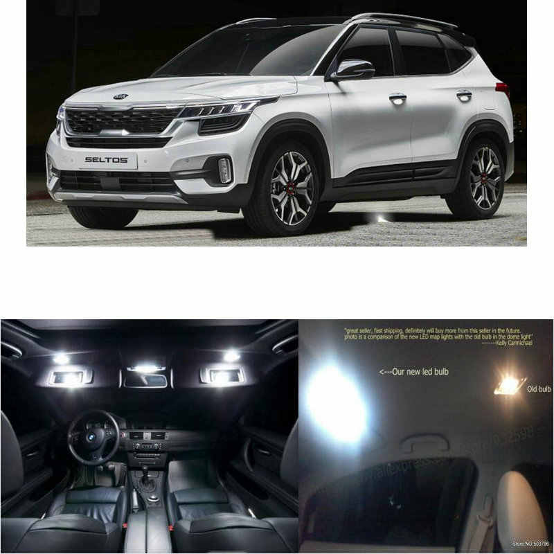 Led Interior Car Lights For Kia Seltos Room Dome Map Reading Foot Door Lamp Error Free 8pc Signal Lamp Aliexpress