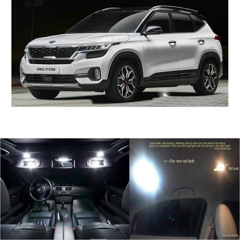 LED Interior Car Lights For Kia Seltos Room Dome Map Reading Foot Door Lamp Error Free 8pc