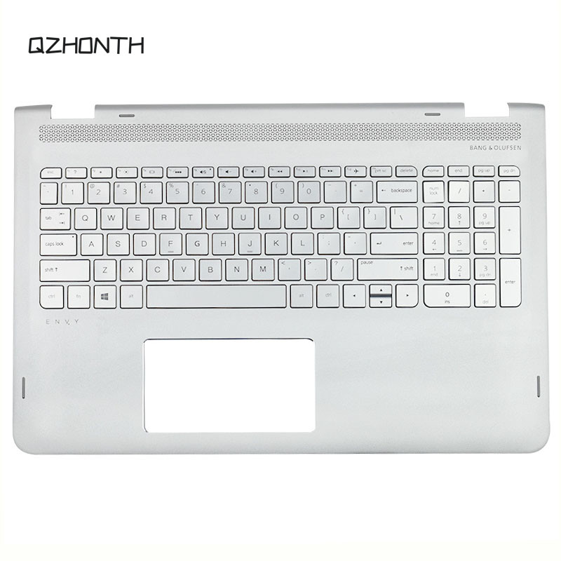 Laptop Palmrest with Keyboard For <font><b>HP</b></font> <font><b>ENVY</b></font> <font><b>X360</b></font> M6-<font><b>AQ</b></font> <font><b>15</b></font>-AQ173CL Silver Color 857283-001 image