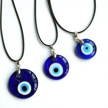 Sea Blue 25/30/35mm Evil Eye Pendants Necklace For Women Men Glass Turkey Evil Eyes Lucky Necklace Choker Jewelry Accessories