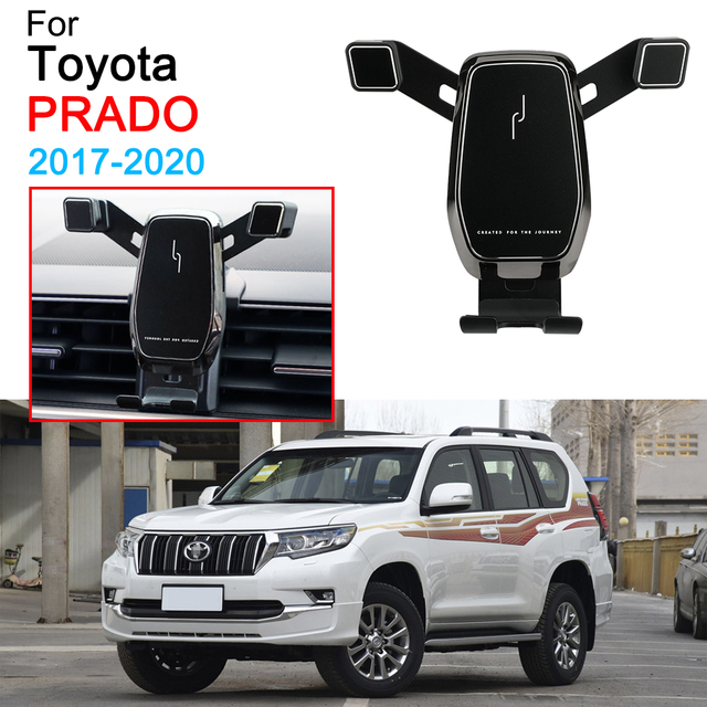 Car Phone Holder Air Vent Mount Clip Clamp Mobile Phone Holder for Toyota Prado Accessories 2017 2018 2019 2020