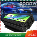 Solar Inverter 3000W Spitzen Spannung Transformator Konverter DC 12V Zu AC 220V Auto Inverter Für Solar Inverter haushaltsgeräte