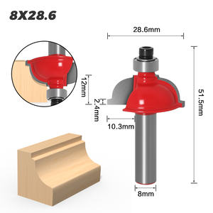 Image 5 - 1pcs 8mm Shank wood router bit Straight end mill trimmer cleaning flush trim corner round cove box bits tools Milling Cutter