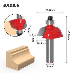 Image 5 - Mèche de défonceuse à extrémité droite pour fraise à bois, pièce de 8mm