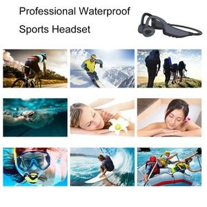 Image 5 - IPX8 wodoodporne słuchawki Bluetooth 5.0 z przewodnictwem kostnym bezprzewodowy zestaw słuchawkowy wbudowana karta pamięci 16GB Mic słuchawki sportowe słuchawki douszne