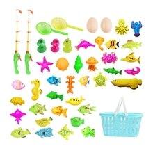 Fishing-Toys-Set Magnetic Kids Children 3D for Gift Fbil-44pcs Funny Classic