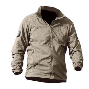 Image 3 - Jaqueta masculina militar, nova jaqueta de verão de 2020, à prova d água, de secagem rápida, tática, com capuz, protetor solar