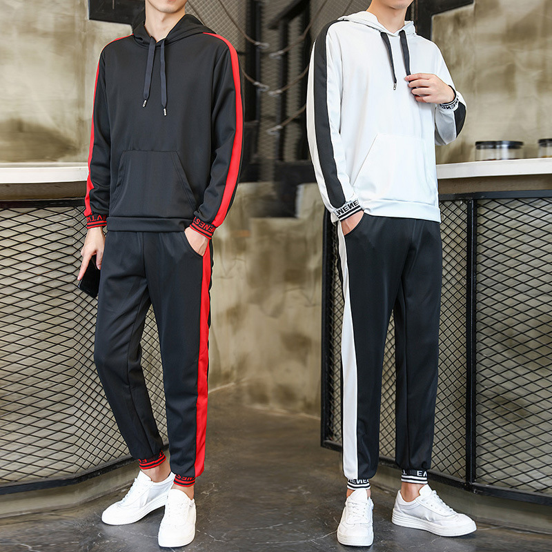 Deft Hot Selling Hot Selling Spring And Autumn Sports Casual Sweatshirt Men's Korean-style Hooded Pullover Trend Two-Piece Set
