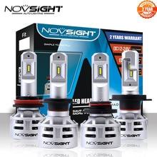 NOVSIGHT H7 LED H4 led H11 HB3 9005 HB4 9006 سيارة مصابيح ليد لمصابيح السيارة الأمامية 60W 10000LM السيارات كشافات الضباب أضواء 12V 24V