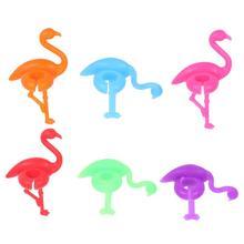 6 шт силиконовый бокал маркер креативный Фламинго дизайн напиток амулеты метка для этикетки стеклянная идентификация идеально подходит для вечерние