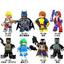 PG8100 8PCS Set Building Blocks Super Heroes Batman Black Lantern Panther Bane Harley Quinn Bricks Figures Children Gift Toys недорого