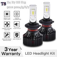 Car LED Headlight T8 H4 H7 H8 H13 9004 9005 9006 9007 9012 6500K Philips For Car Motorcycle Trunk Off Road ATV SUV UTV