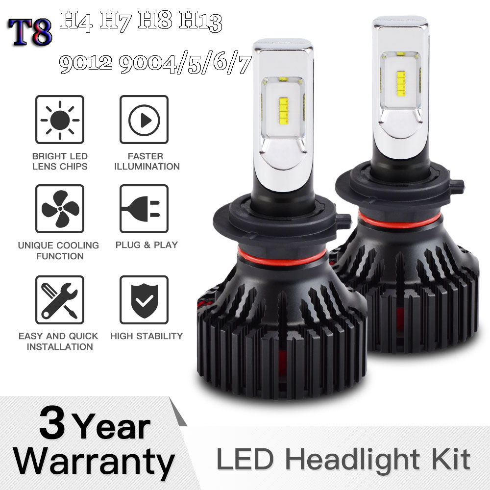 Car <font><b>LED</b></font> <font><b>Headlight</b></font> T8 H4 <font><b>H7</b></font> H8 H13 9004 9005 9006 9007 9012 6500K <font><b>Philips</b></font> For Car Motorcycle Trunk Off-Road ATV SUV UTV image