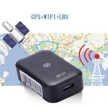GF21 Mini lokalizator samochodowy GPS App urządzenie anty-zgubione sterowanie głosem lokalizator nagrywania mikrofon wysokiej rozdzielczości WIFI + LBS + GPS