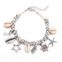 Европейский и американский AliExpress, стиль, креативный ретро серебряный браслет с подвеской в виде пятиконечной звезды