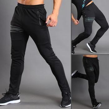 Pantalones largos elásticos y transpirables para hombre, pantalones largos de chándal para deporte, gimnasio y Fitness 1