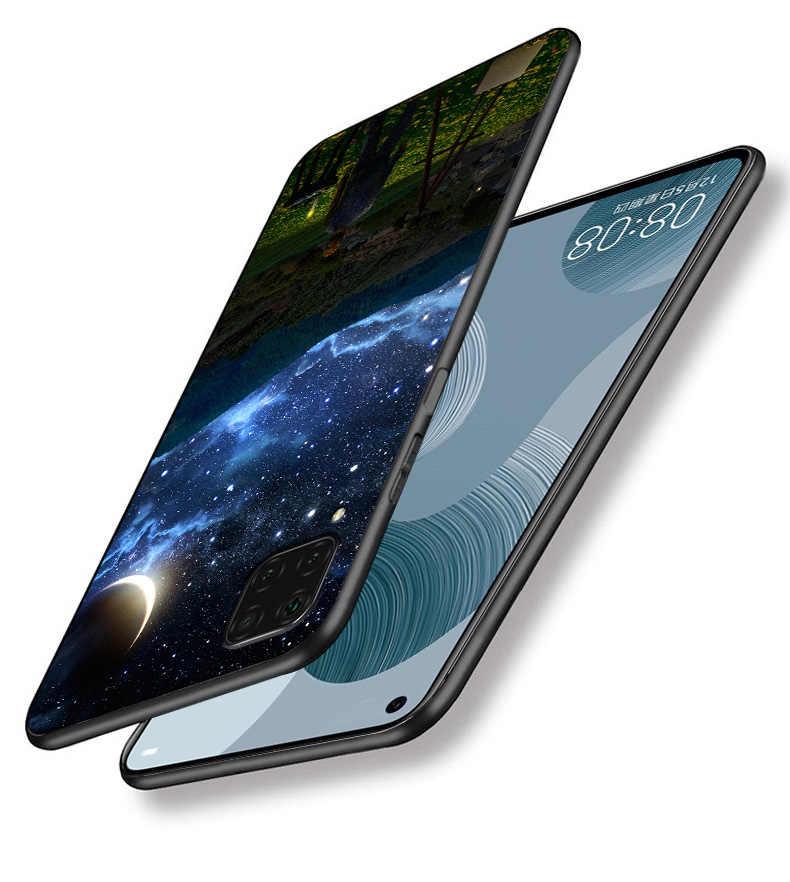 עבור Huawei P40 לייט/P40 פרו/P40 מקרה שחור סיליקון רך tpu טלפון מקרה עבור Huawei P 40 lite עבור Huawei P40Lite