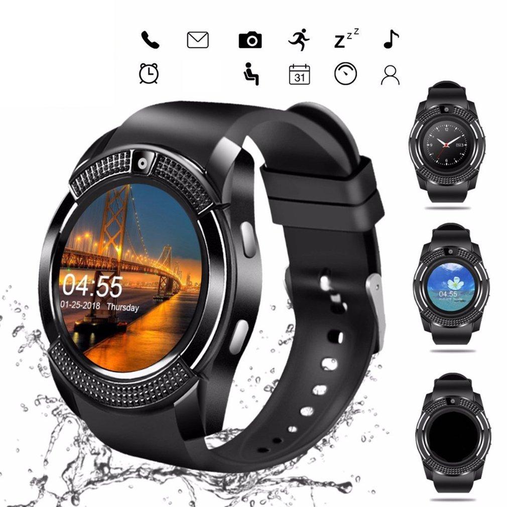 Купить красочные v8 смарт беспроводные часы водонепроницаемые спортивные