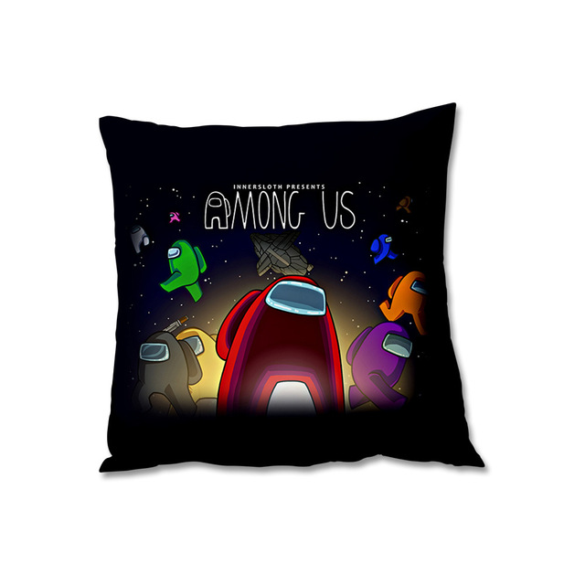 ELEGANT/YAY 45 45CM NEW No Pillow Insert Square Among Us Game Fans Anime Cute Pillow Case Model Student Bedroom Gift comics pillow cases