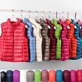 Ultra Light Slim Down Coat Women Winter Stand Collar Thin Jacket Windproof Padded Waistcoat Sleeveless Portable Duck Down Vest