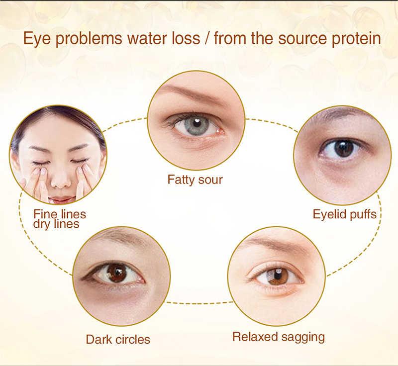 2pcs Mascherina di Occhio del Collageno Anti-Rughe Maschera Gel Sonno Maschera D'oro Occhio Patch Elimina Anti-Aging Idratante la Cura della pelle TSLM2