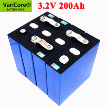 3.2V 200Ah LiFePO4 lithium battery 3.2v 3C Lithium iron phosphate battery for 12V 24V battery inverter vehicle RV Solar energy