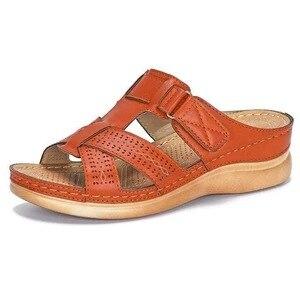 Women's Summer Open Toe Comfy Sandals Super Soft Premium Orthopedic Low Heels Walking Sandals Drop Shipping Toe Corrector Cusion