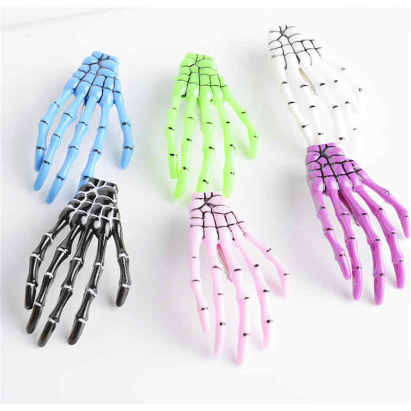 New Fashion Skeleton Claw Skull Hand Hair Clip Hairpin Zombie Punk Horror Bobby Pin Barrette
