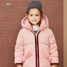 Kids Jacket Down-Coat Dave Bella 90%White-Duck-Down Padded Hooded Baby-Girls Winter Fashion
