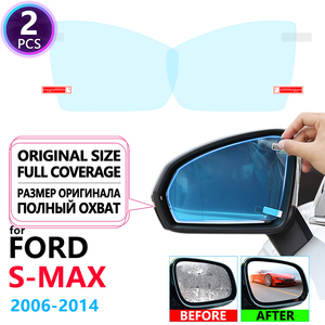 Full Cover Anti Fog Rainproof Film Rearview for Ford S-Max MK1 2006~2014 Car Stickers Accessories 2007 2008 2010 2011 Smax S max(China)