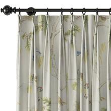 Luna Pinch Pleat Animals Print Curtain Polyester Window Drapery, Size and Liner Custom Made, (1 Panel) For Track Traverse Rod