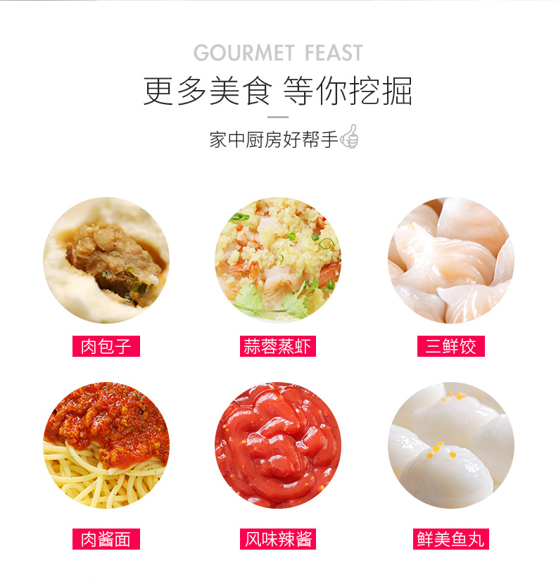 Electric Meat Grinder Household Small Stainless Steel Multi-function Mixing Mince Filling Machine Automatic Commercial Enema 11
