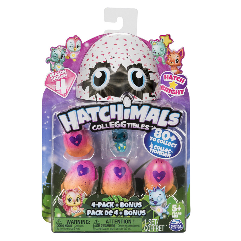 SPIN MASTER Action Toy Figures Hatchimals Hachi magic egg creative hatch magic egg mini egg animal static doll season 4 gift image