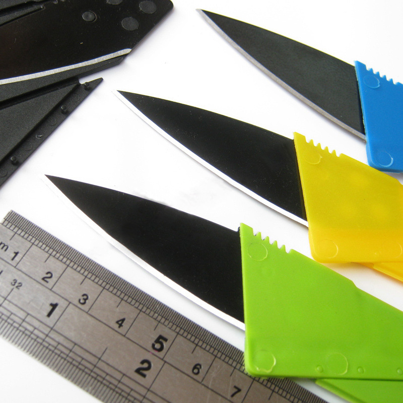 New Products Creative Credit Card Folding Knife Outdoor Portable Ka Pian Dao Manufacturers Direct Selling Currently Available Sw