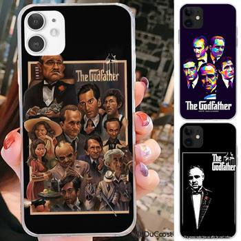 Kenzoe The Godfather Don Corleone Hard Phone Case For iPhone 12 11 Pro Max SE XSmax XR XS X 8 7 6 Plus image