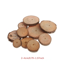 10Pcs Rustic Natural Round Wood Pine Tree Slices Craft Wedding Centerpiece Decor natural camphor tree household bug repellent deodorization mothballs wood 10pcs