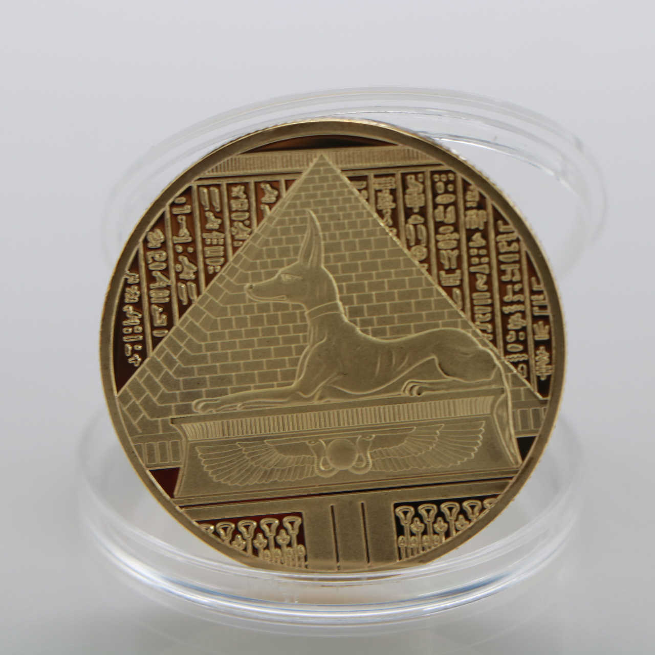 Mạ Vàng Ai Cập Chết Bảo Vệ Anubis Đồng Tiền Sao Chép Đồng Tiền Ai Cập Thần Chết Tiền Kim Loại Kỷ Niệm Bộ Sưu Tập Quà Tặng