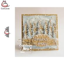 Рождественская елка металлическая резка Скрапбукинг трафарет высечки карты делая своими руками, декоративная поделка тиснение новые штампы для