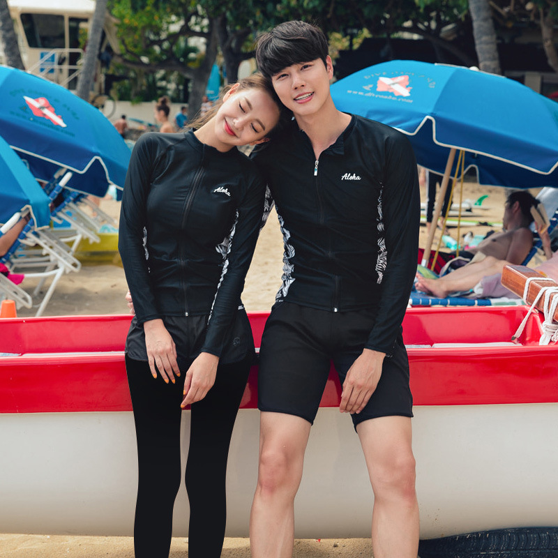 2020 South Korea New Style Diving Suit-Style Women's Slimming Sports Long Sleeve Trousers Sun-resistant Men's Couples Swimwear