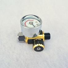 0-140PSI резьба мини воздушный регулятор Хвост контроль манометр для распылителя AU