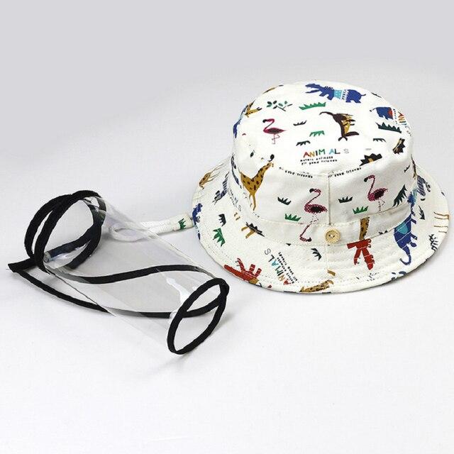 Фото кепка с прозрачным чехлом для мальчиков и девочек регулируемая